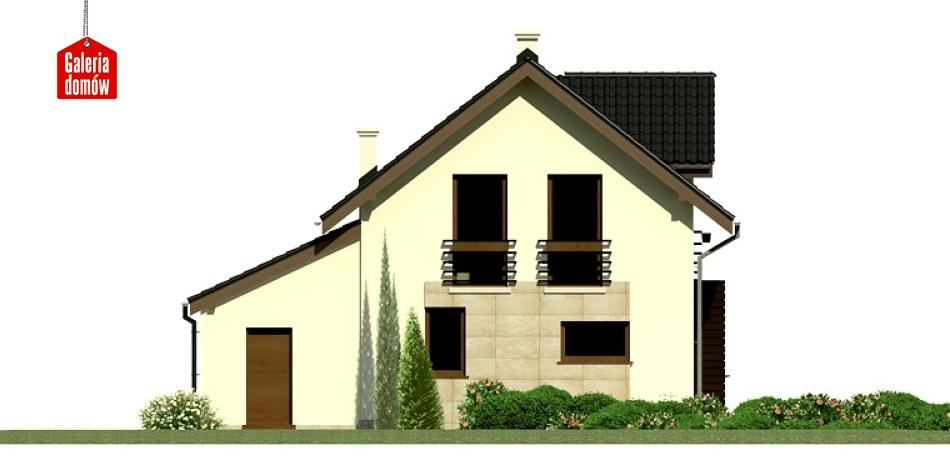 Dom przy Kalinowej 4 - elewacja lewa