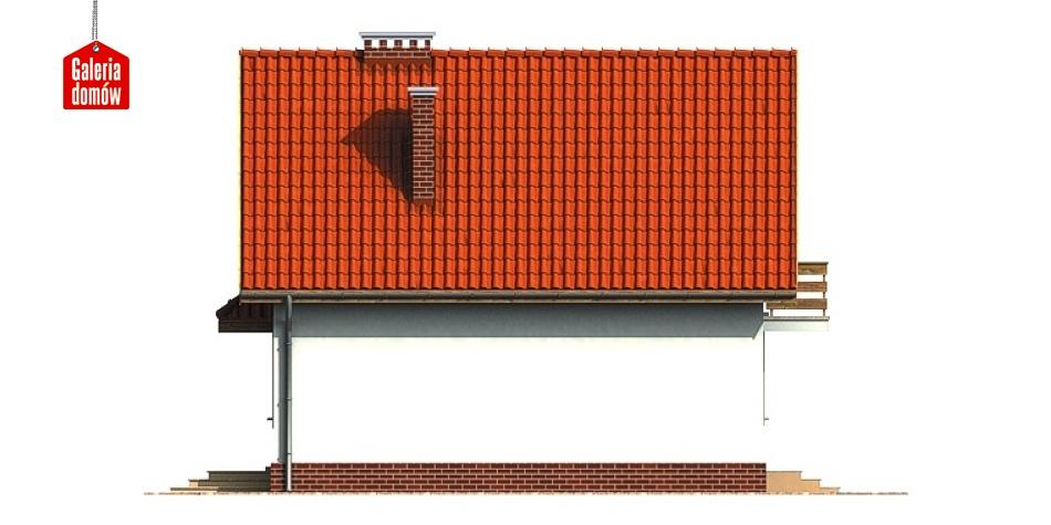 Dom przy Kalinowej - elewacja tylna