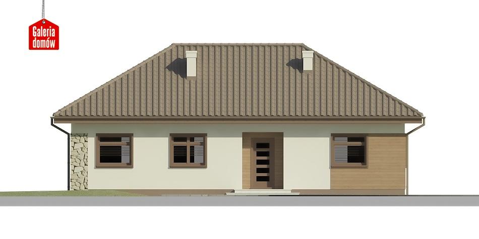 Dom przy Klonowej 2 - elewacja frontowa