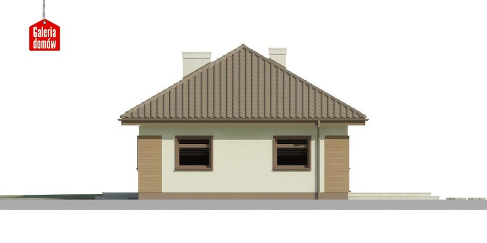 Dom przy Klonowej 2 - elewacja prawa