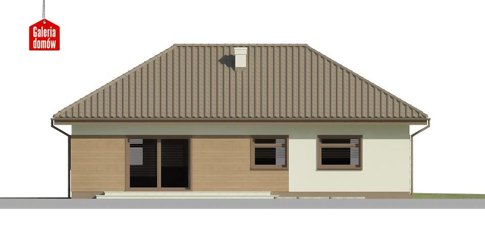 Dom przy Klonowej 2 - elewacja tylna