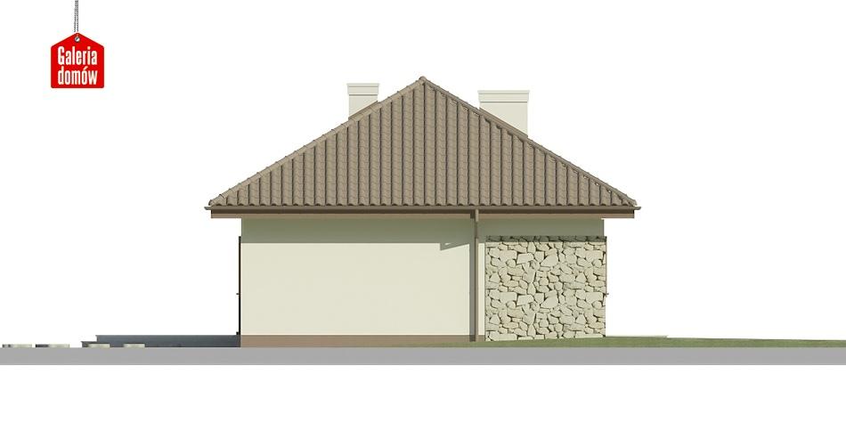 Dom przy Klonowej 2 - elewacja lewa