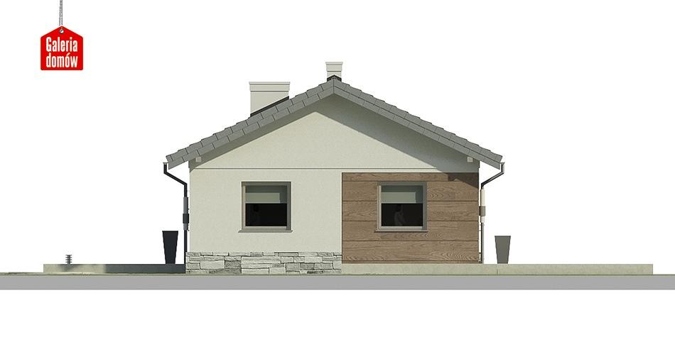 Dom przy Klonowej 5 - elewacja tylna
