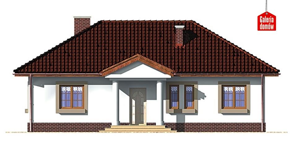 Dom przy Klonowej - elewacja frontowa