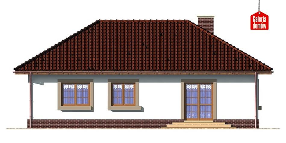 Dom przy Klonowej - elewacja tylna