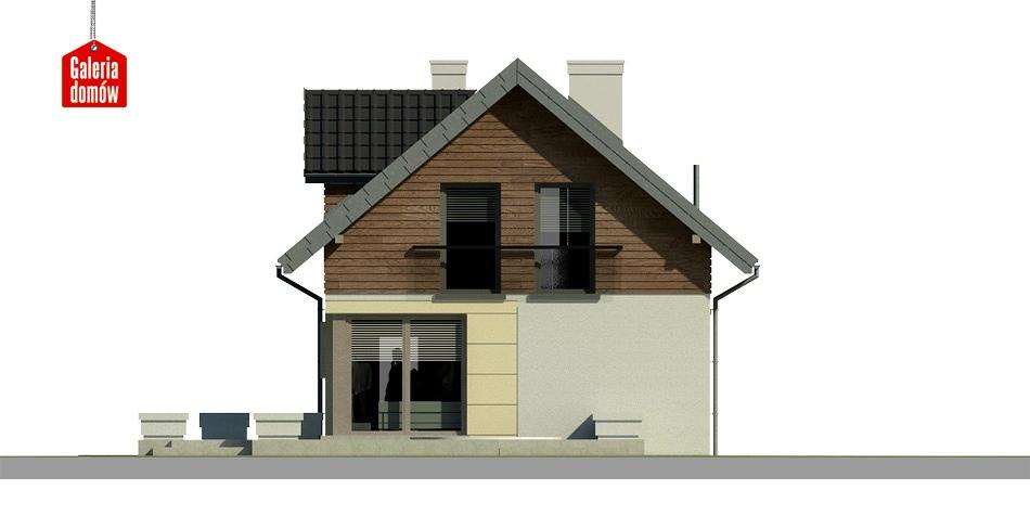 Dom przy Kolorowej - elewacja tylna