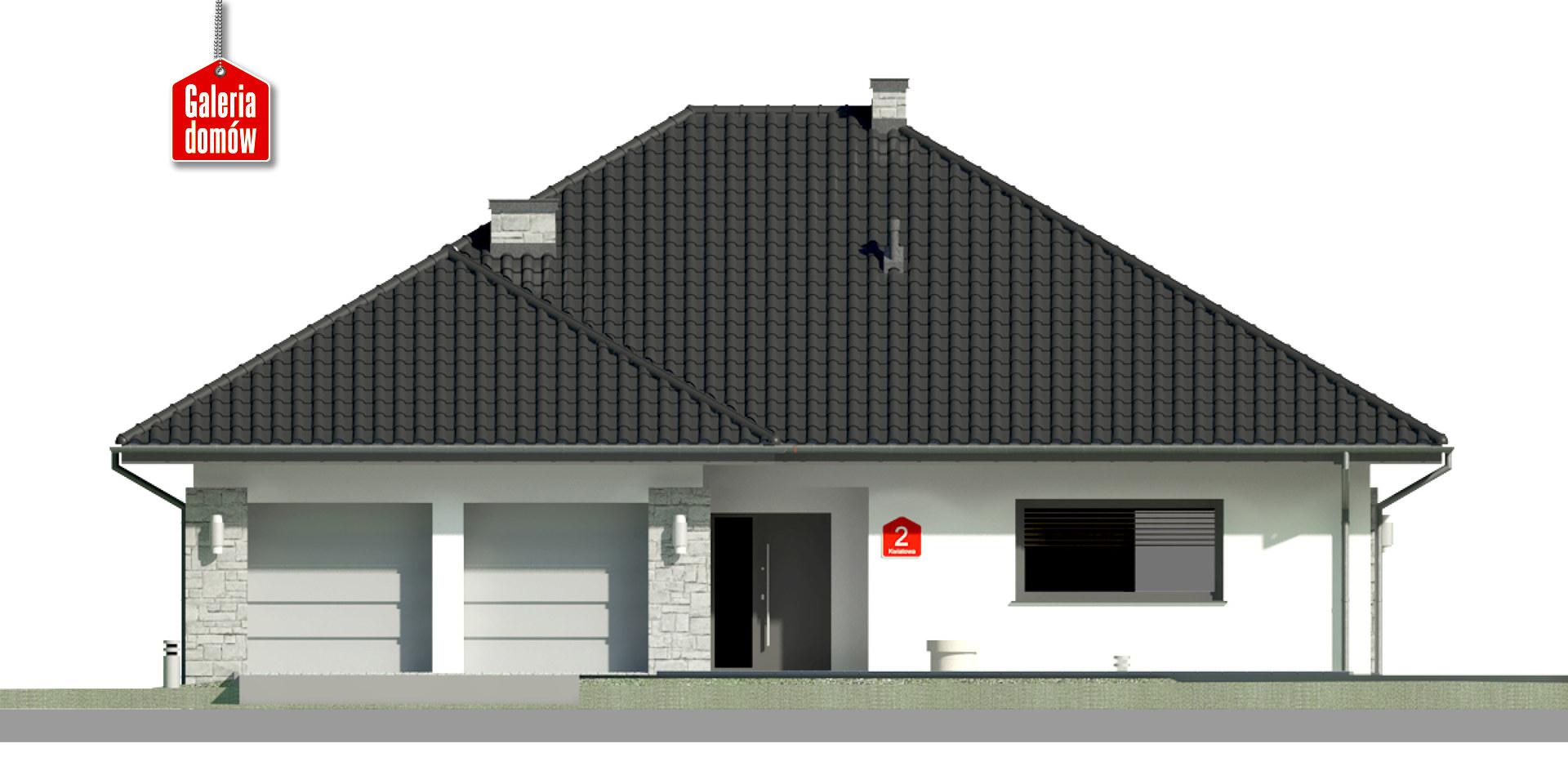Dom przy Kwiatowej 2 bis - elewacja frontowa