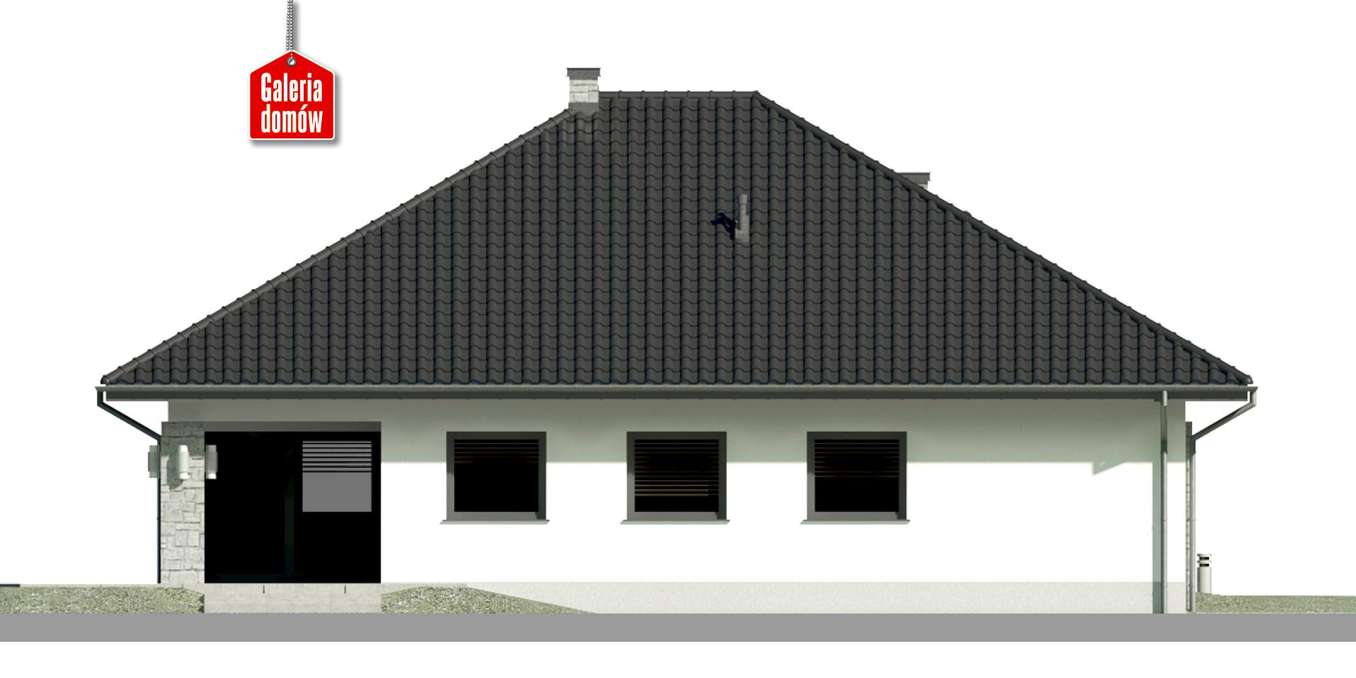 Dom przy Kwiatowej 2 bis - elewacja tylna