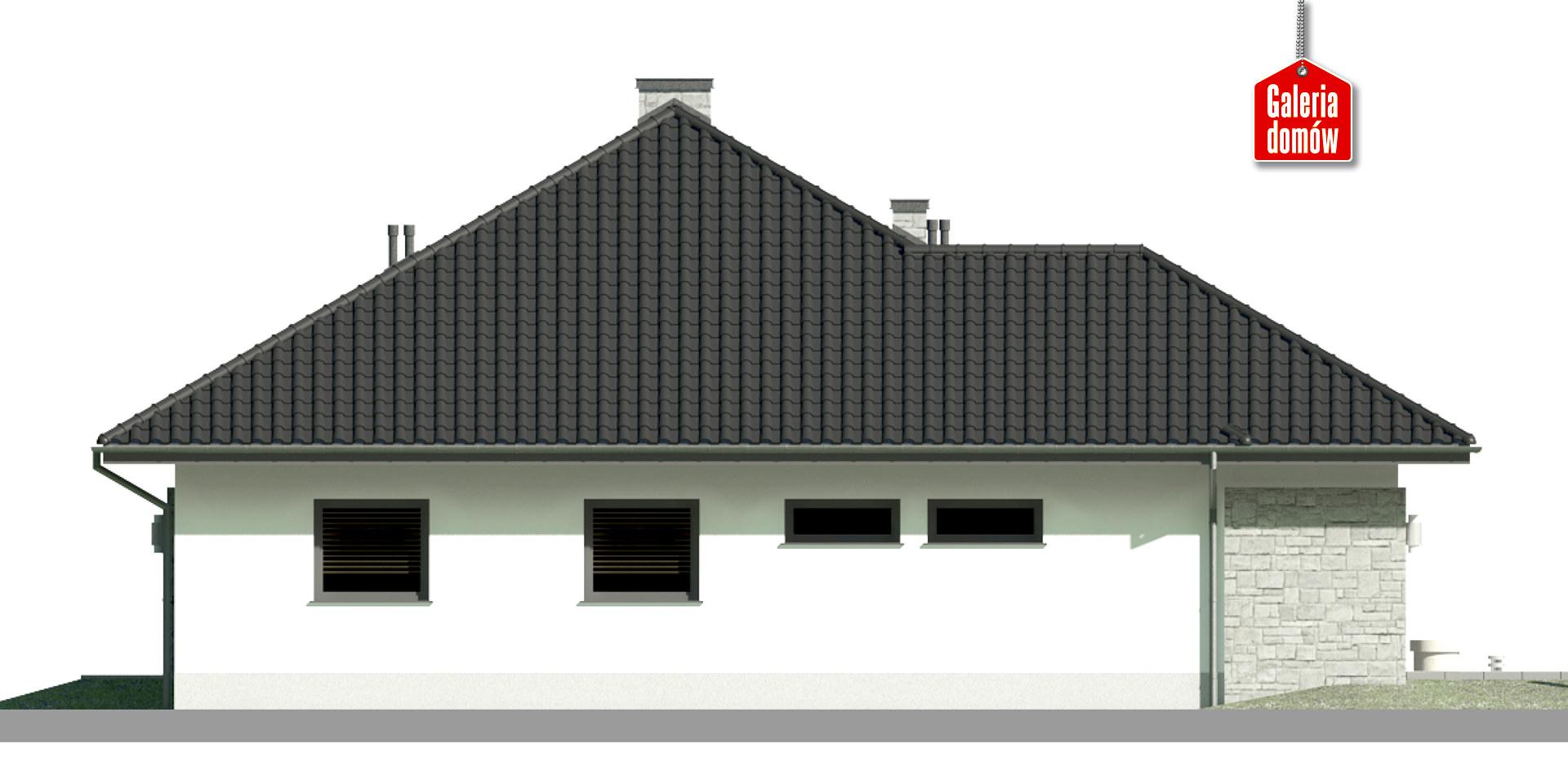 Dom przy Kwiatowej 2 bis - elewacja lewa