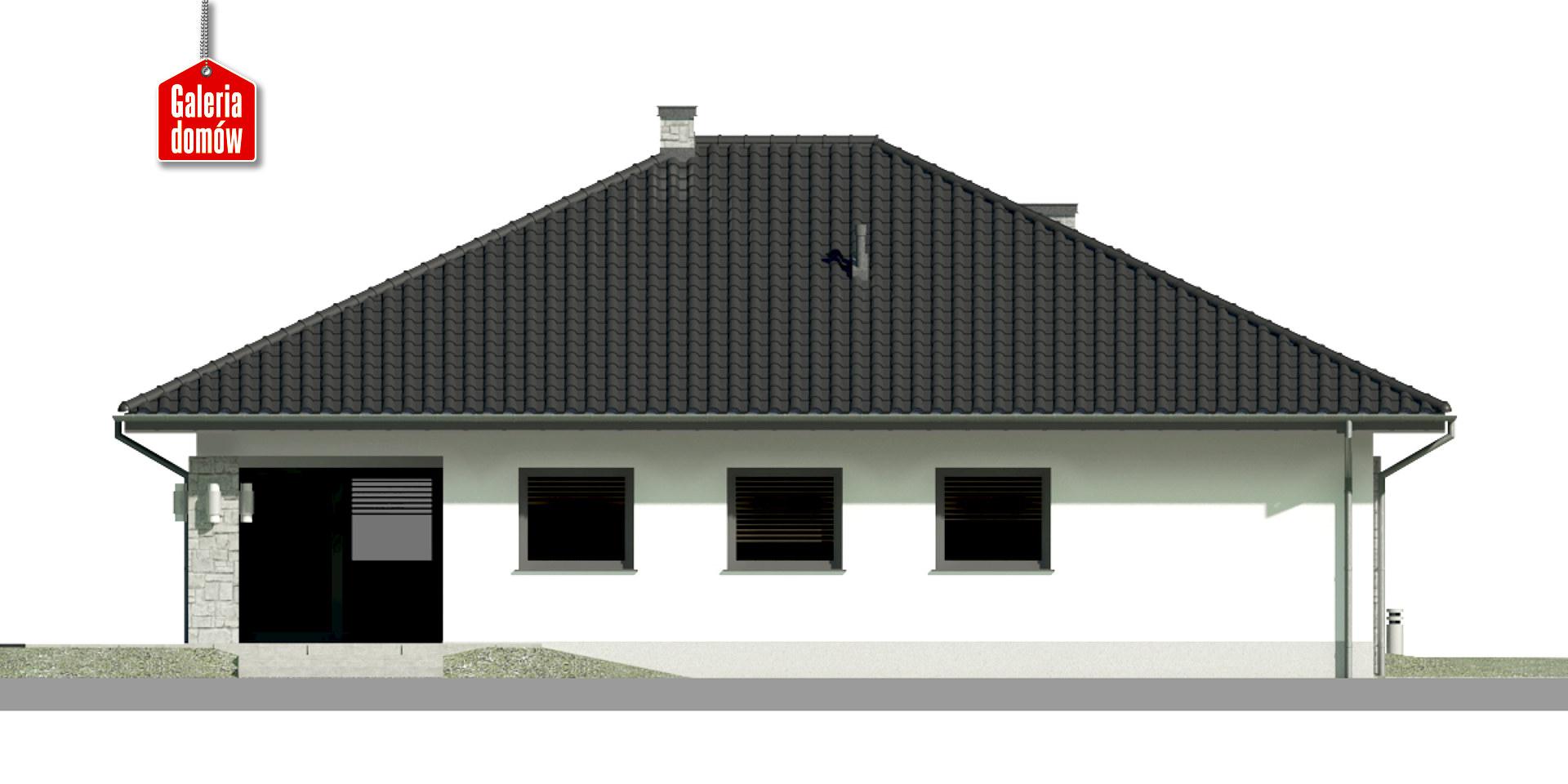 Dom przy Kwiatowej 2 - elewacja tylna