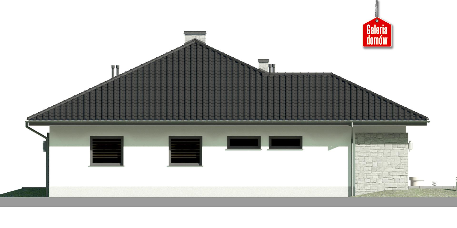 Dom przy Kwiatowej 2 - elewacja lewa