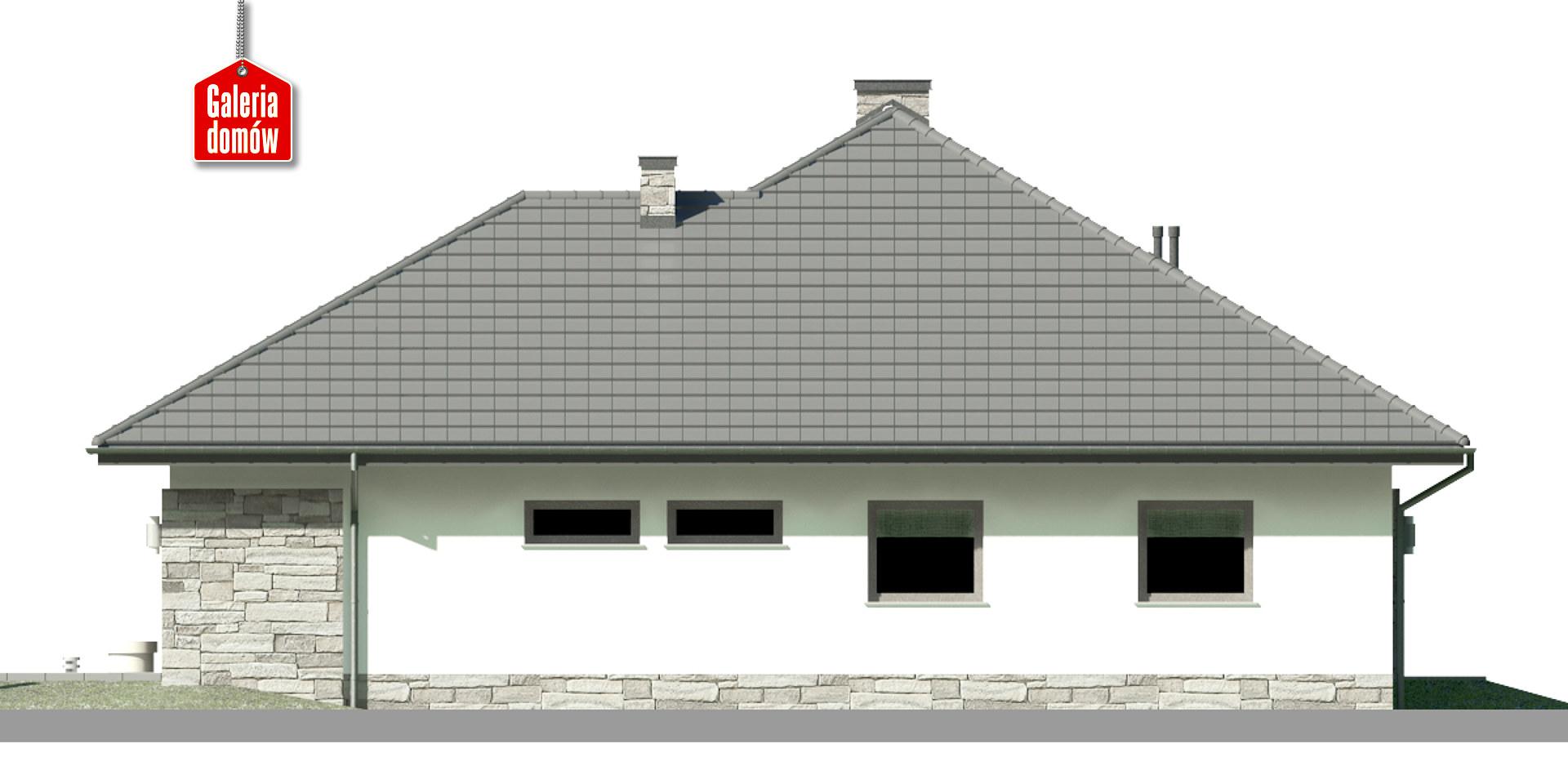 Dom przy Kwiatowej 3 bis - elewacja lewa