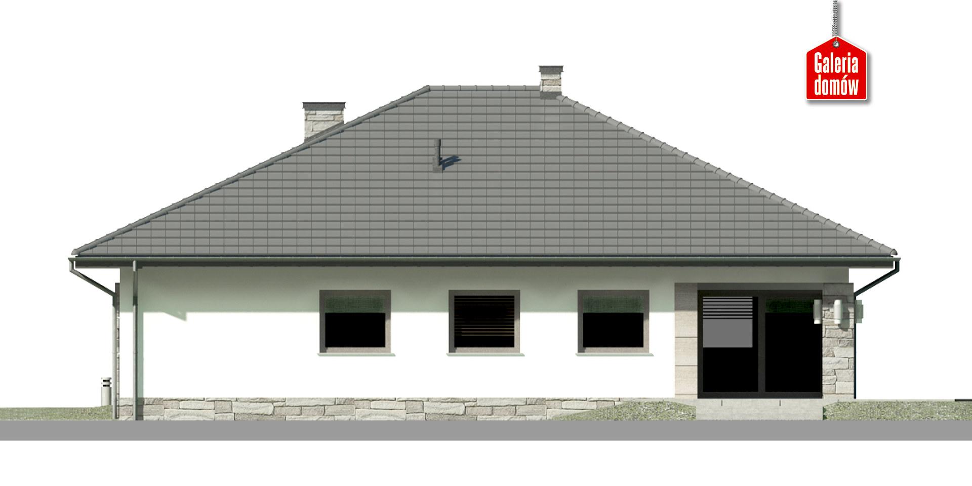 Dom przy Kwiatowej 3 - elewacja tylna