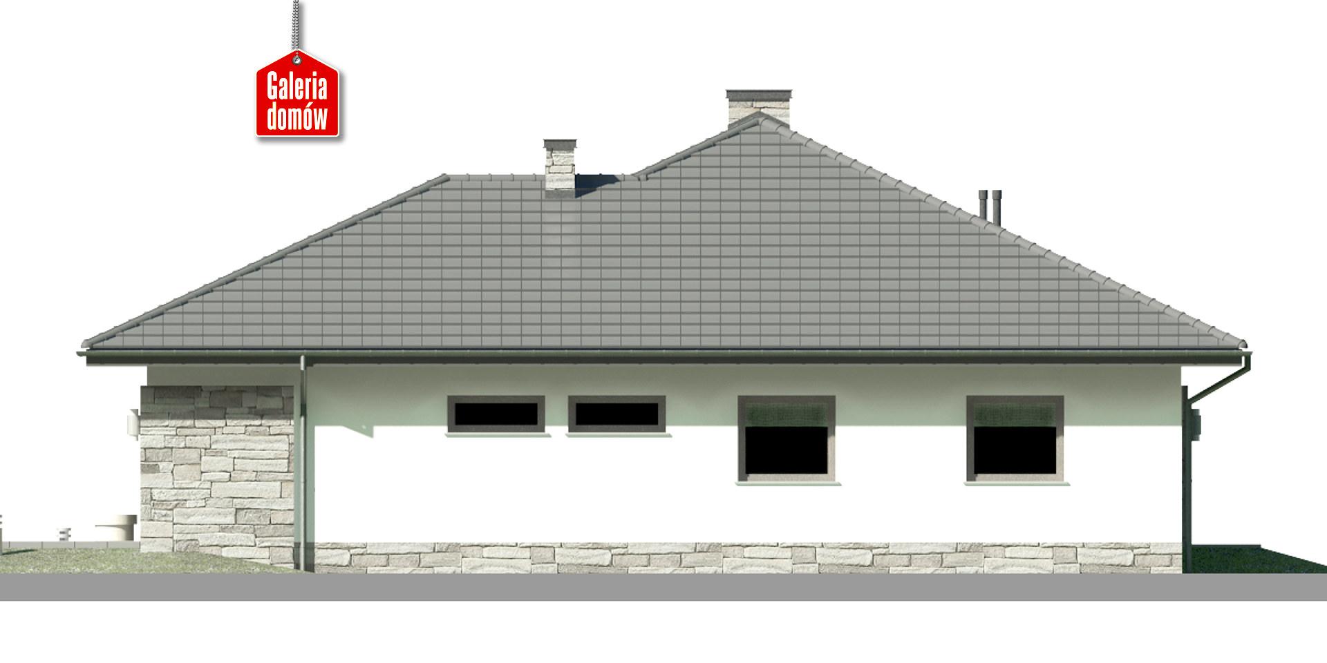 Dom przy Kwiatowej 3 - elewacja lewa