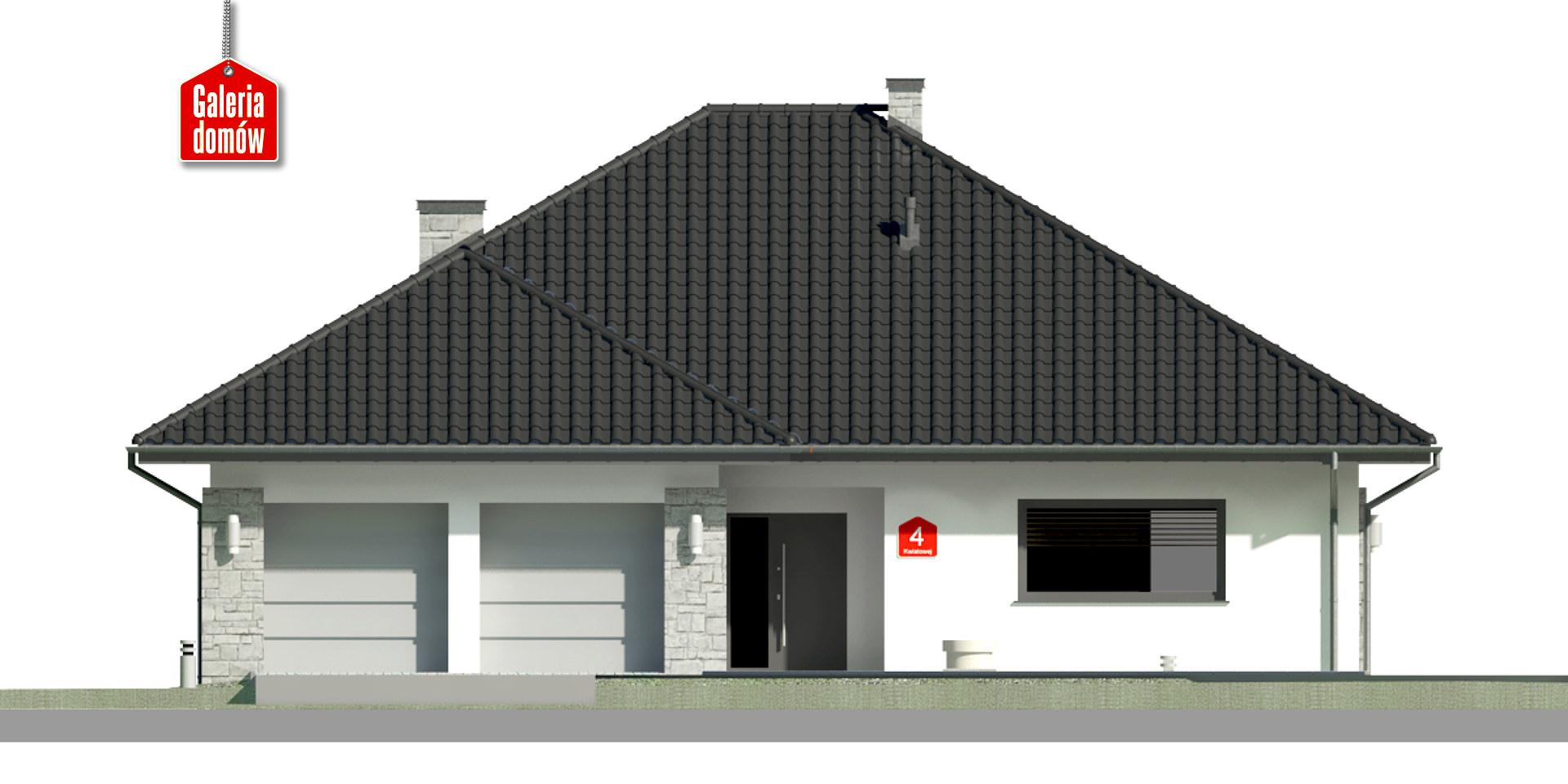 Dom przy Kwiatowej 4 bis - elewacja frontowa