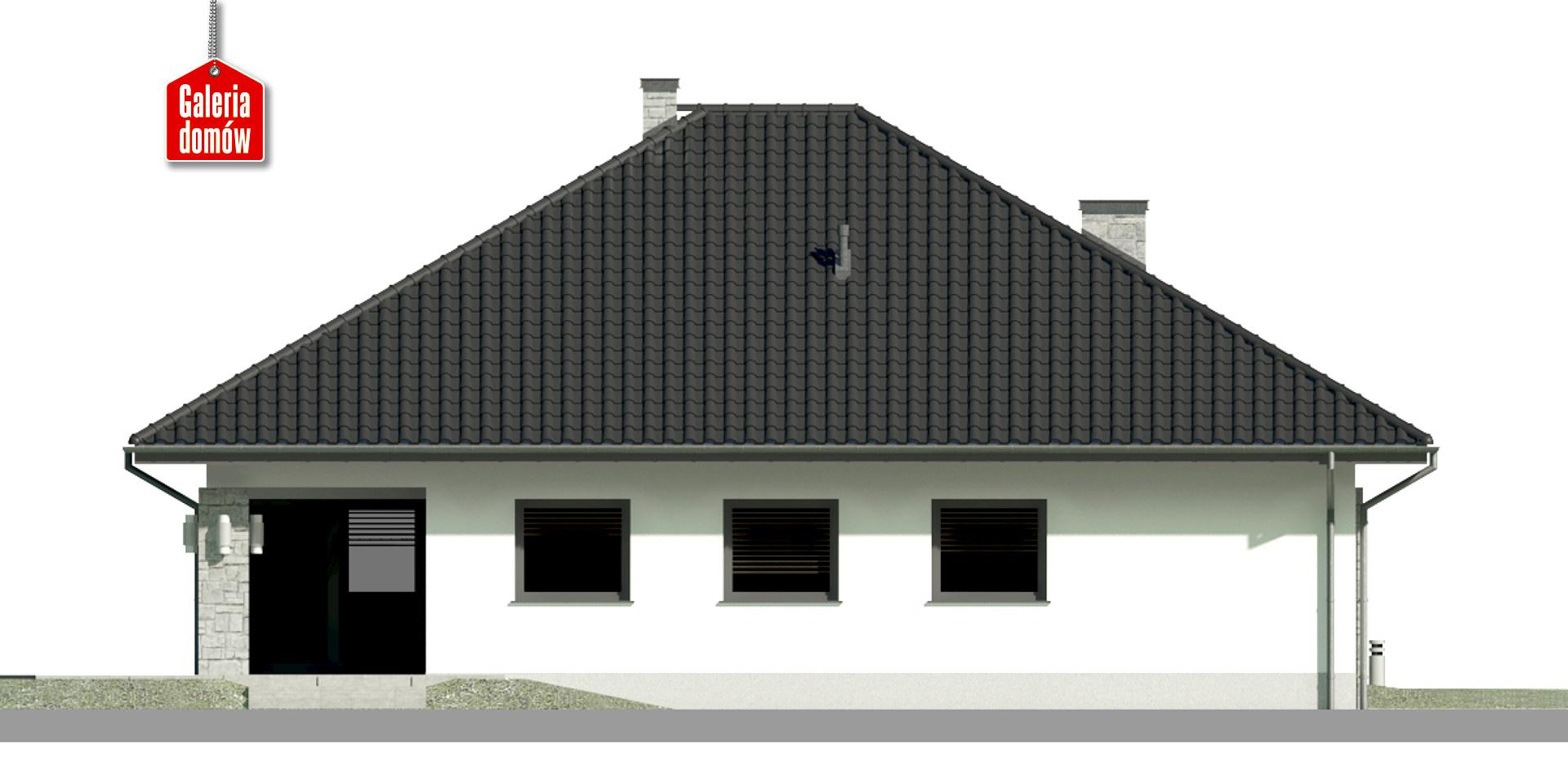 Dom przy Kwiatowej 4 bis - elewacja tylna