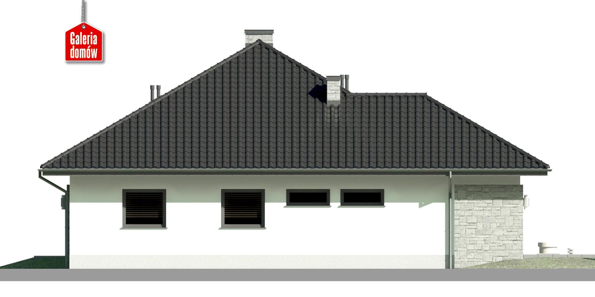 Dom przy Kwiatowej 4 bis - elewacja lewa