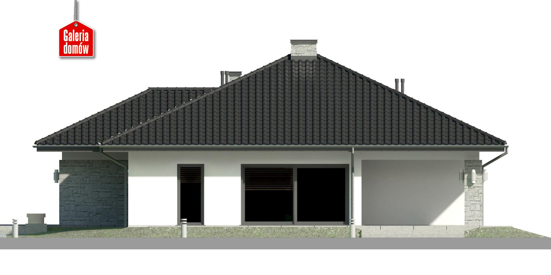 Dom przy Kwiatowej 4 - elewacja prawa