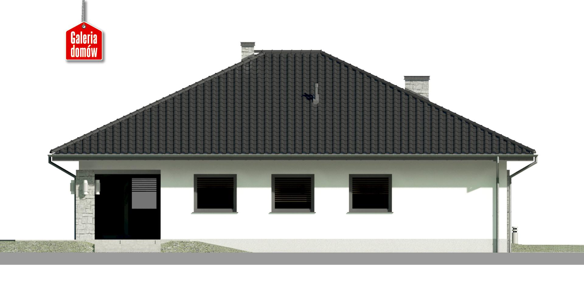 Dom przy Kwiatowej 4 - elewacja tylna