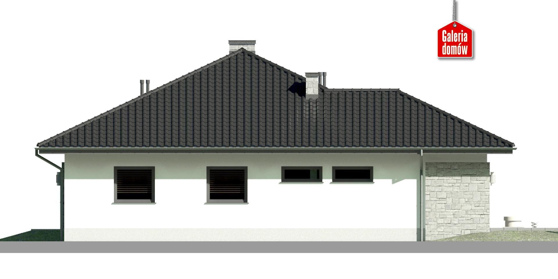 Dom przy Kwiatowej 4 - elewacja lewa