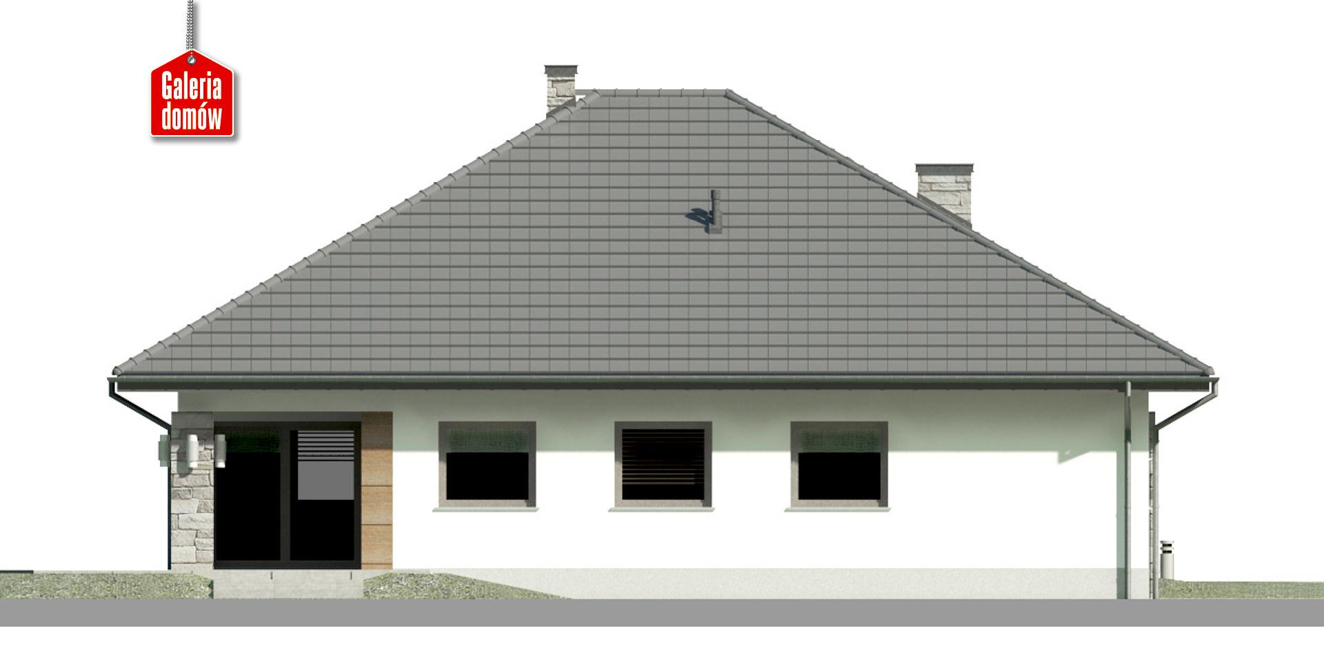 Dom przy Kwiatowej 5 bis - elewacja tylna