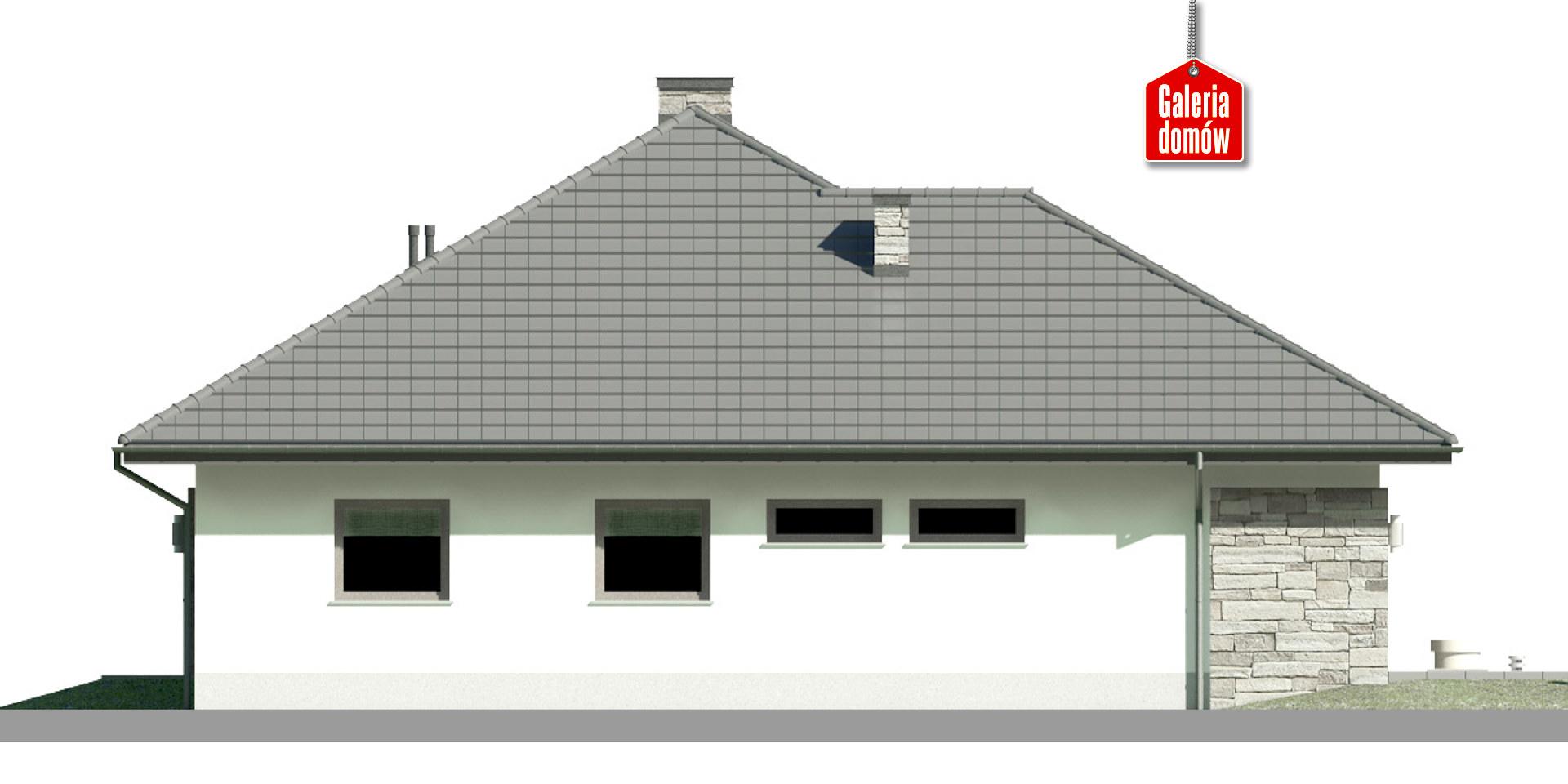 Dom przy Kwiatowej 5 bis - elewacja lewa