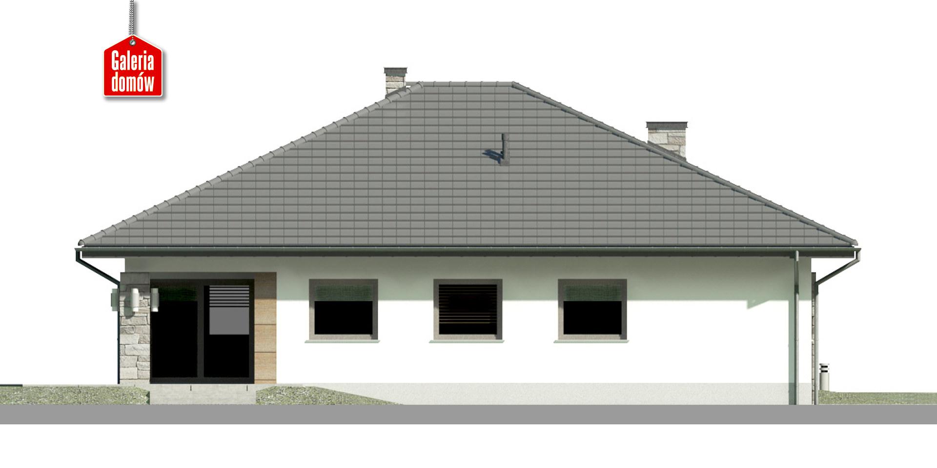 Dom przy Kwiatowej 5 - elewacja tylna