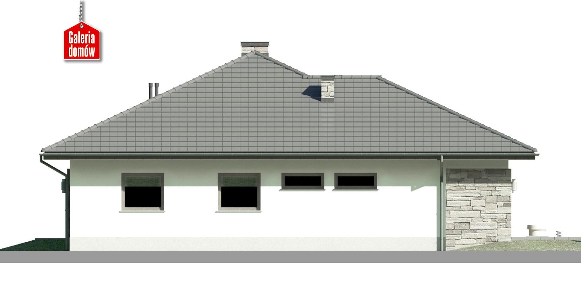 Dom przy Kwiatowej 5 - elewacja lewa