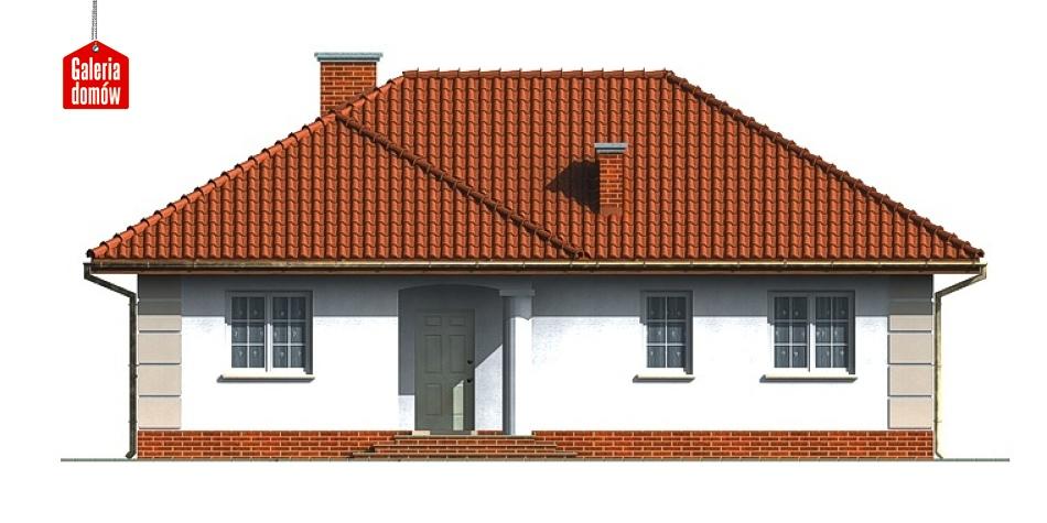 Dom przy Łabędziej - elewacja frontowa