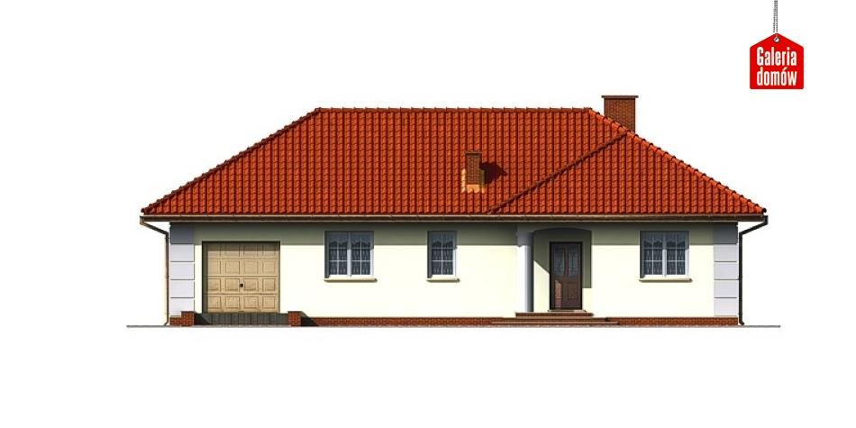 Dom przy Lazurowej - elewacja frontowa