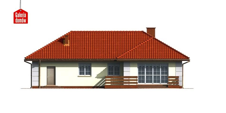 Dom przy Lazurowej - elewacja tylna