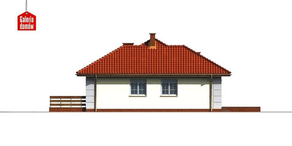Dom przy Lazurowej - elewacja lewa