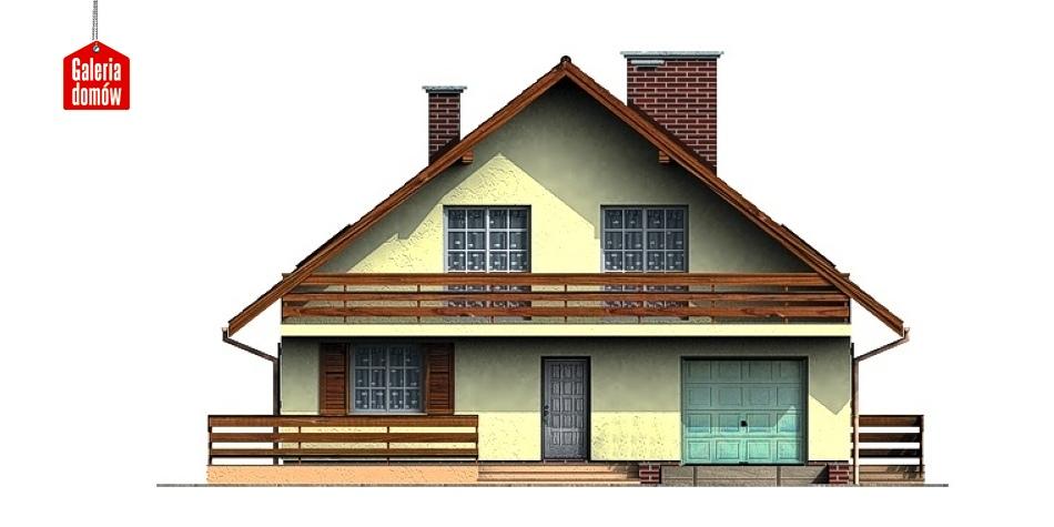 Dom przy Leśnej - elewacja frontowa