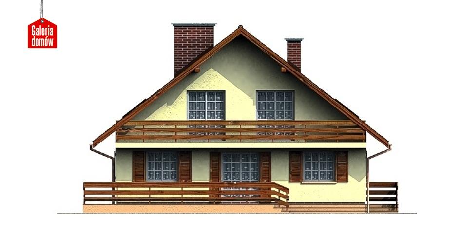 Dom przy Leśnej - elewacja tylna