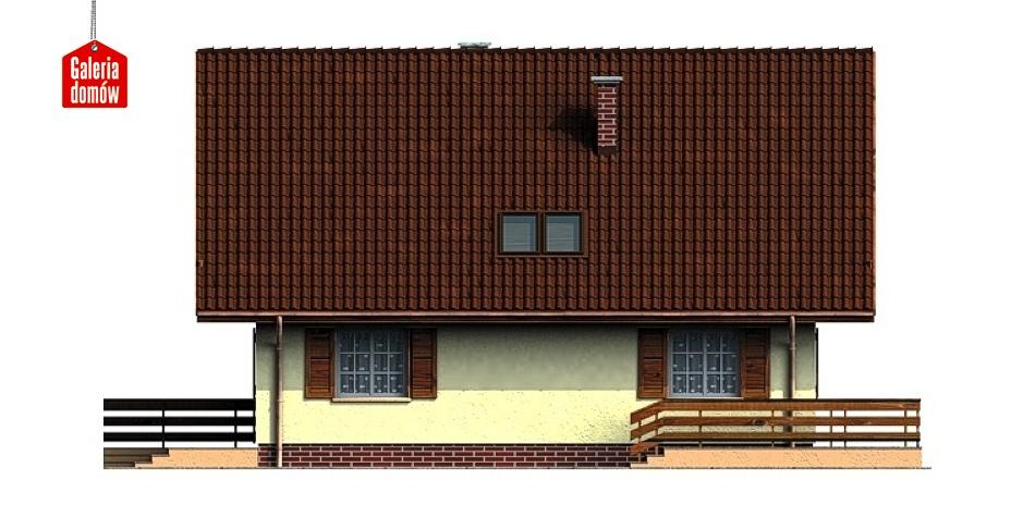 Dom przy Leśnej - elewacja lewa