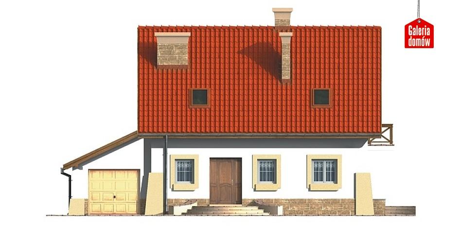 Dom przy Maciejkowej - elewacja frontowa