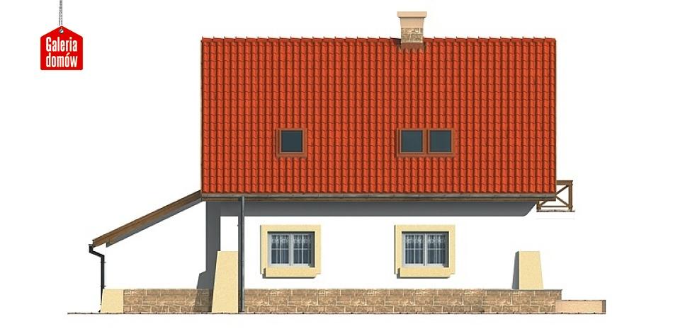 Dom przy Maciejkowej - elewacja tylna