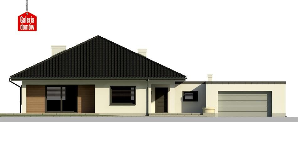 Dom przy Makowej 2 bis - elewacja frontowa