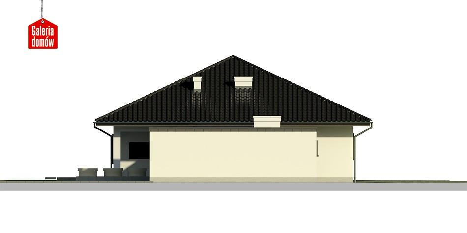 Dom przy Makowej 2 bis - elewacja prawa