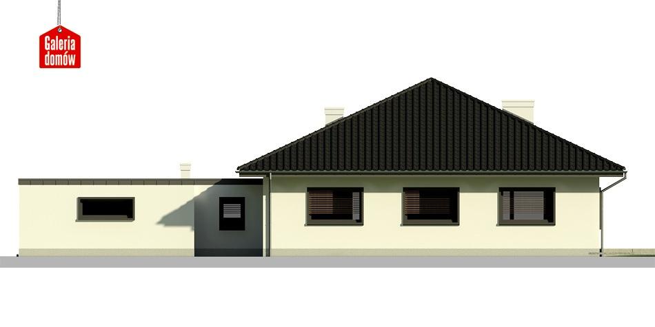 Dom przy Makowej 2 bis - elewacja tylna