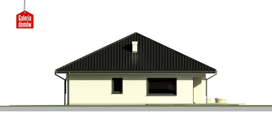 Dom przy Makowej 2 bis - elewacja lewa