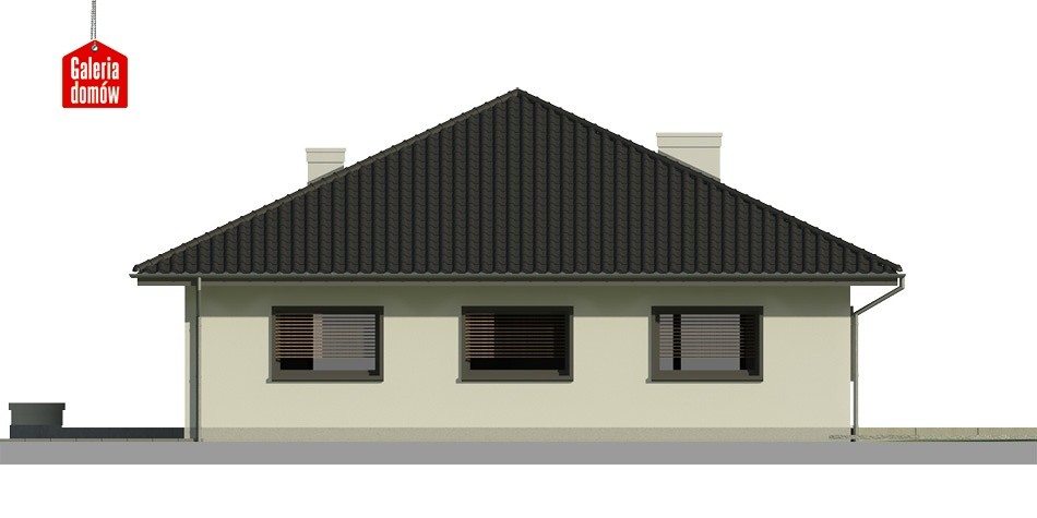 Dom przy Makowej 3 bis - elewacja tylna