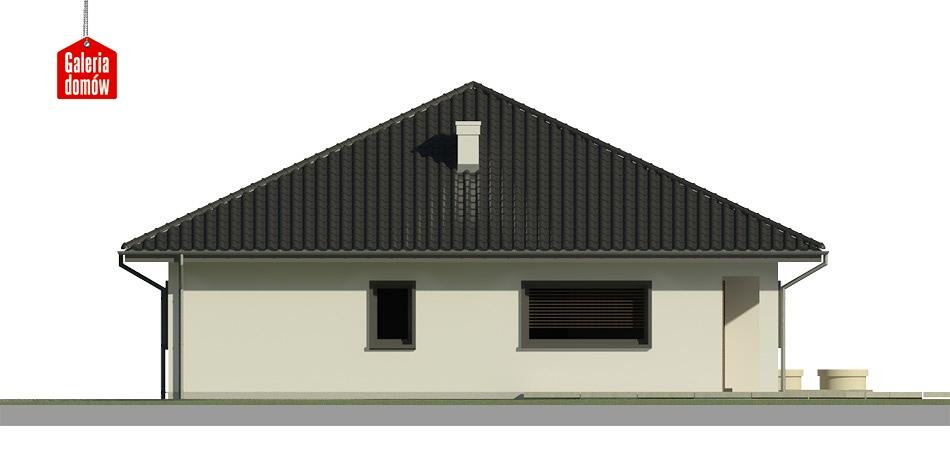 Dom przy Makowej 3 bis - elewacja lewa