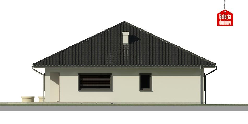 Dom przy Makowej 3 - elewacja lewa