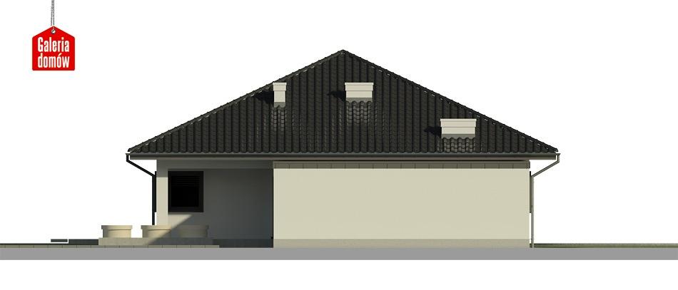 Dom przy Makowej 4 - elewacja prawa