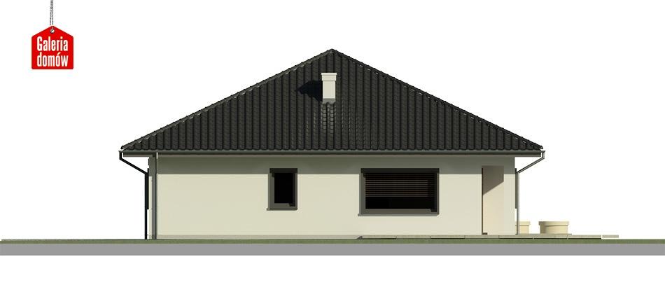 Dom przy Makowej 4 - elewacja lewa