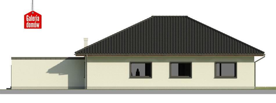 Dom przy Makowej 5 bis - elewacja tylna