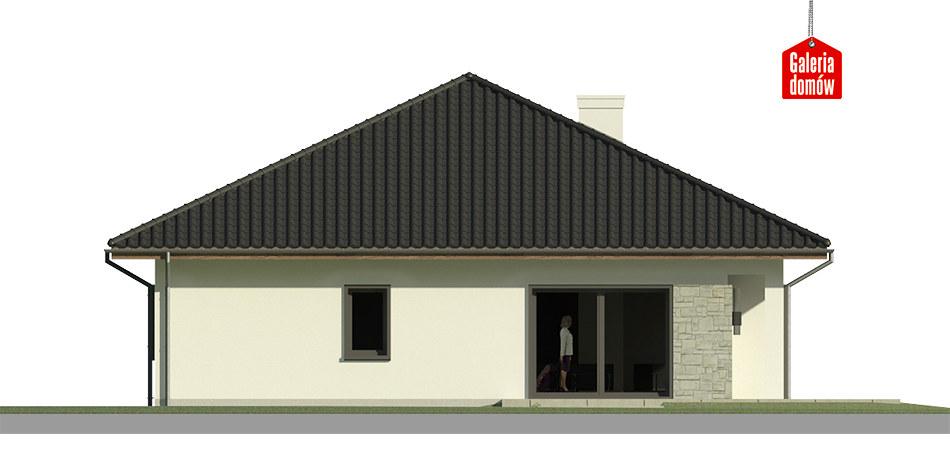 Dom przy Makowej 5 bis - elewacja lewa