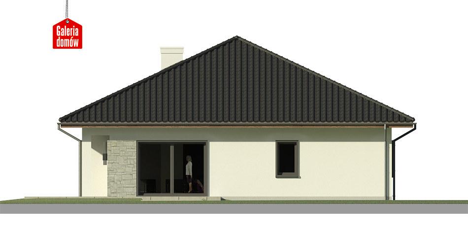Dom przy Makowej 5 - elewacja lewa