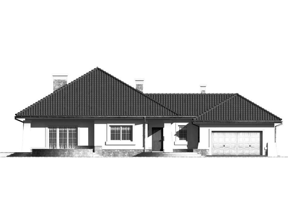Dom przy Makowej - elewacja frontowa